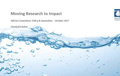 (GBCSA 2017) Moving Research to Impact / Chantal Ramcharan-Kotze