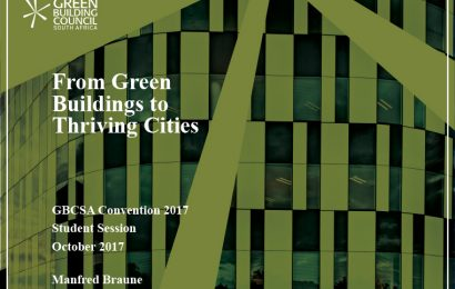 (GBCSA 2017) From Green Buildings to Thriving Cities / Manfred Braune